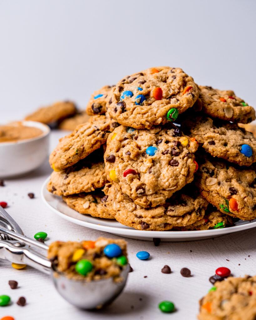 Plate of monster cookies