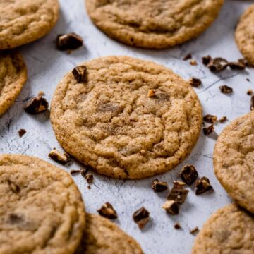 Snickerdoodle cookies with chocolate pieces