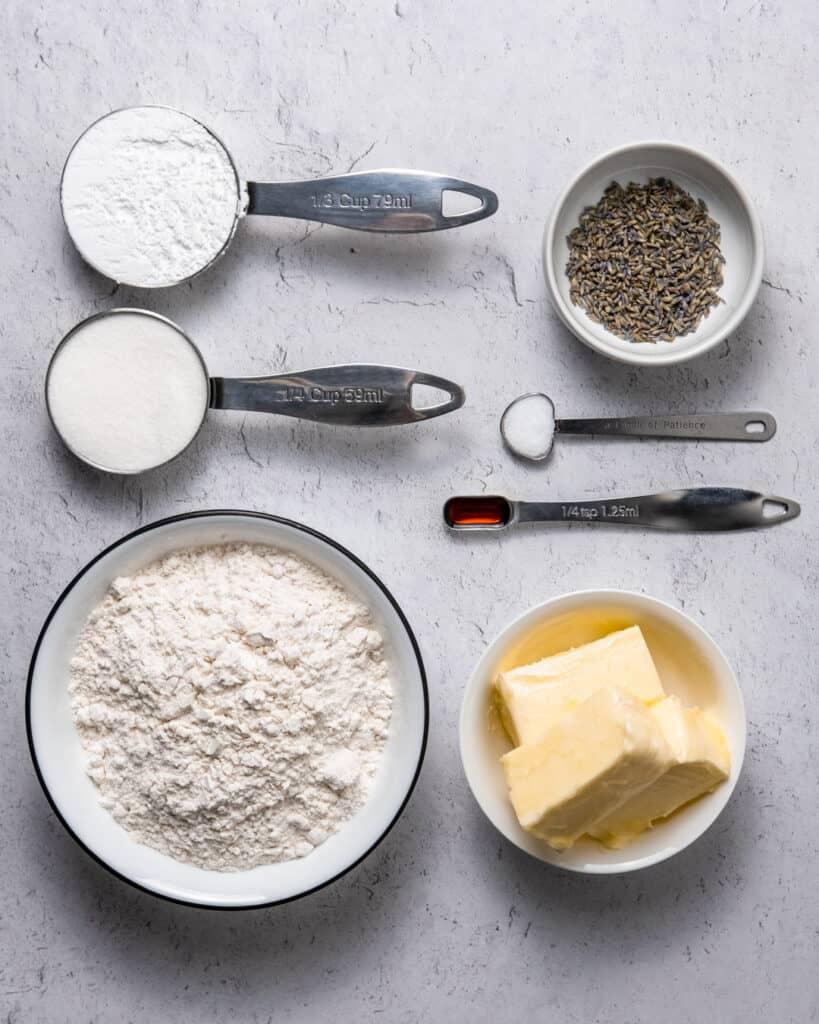 lavender shortbread cookie ingredients