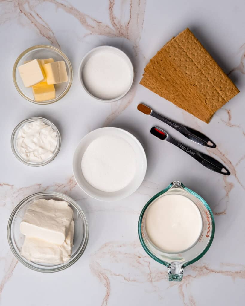 mini cheesecake no bake ingredients