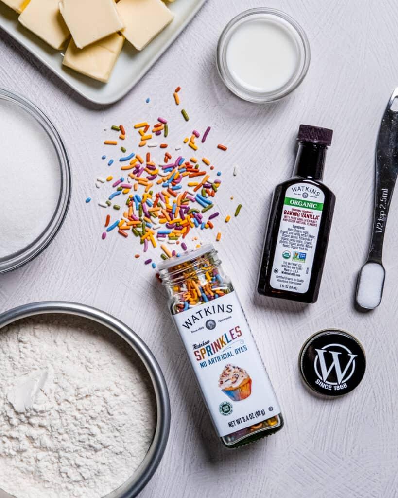 funfetti edible cookie dough ingredients