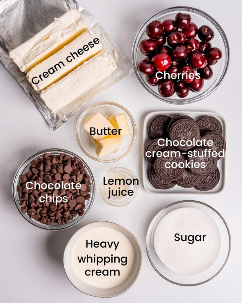chocolate cheesecake ingredients