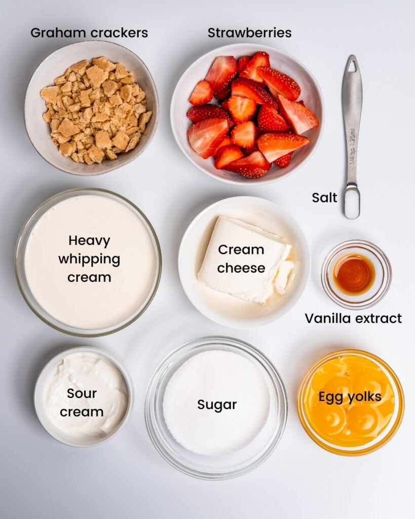 Strawberry cheesecake ice cream ingredients