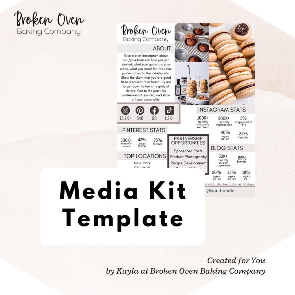 Media Kit Template Thumbnail