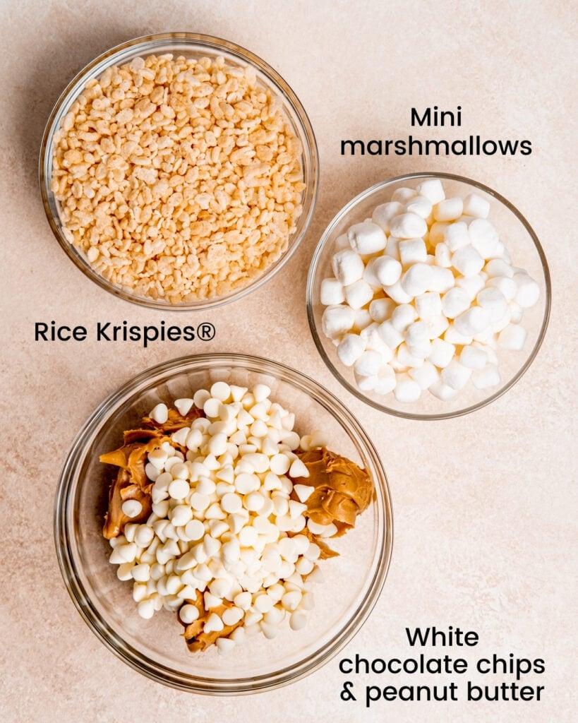 Chocolate Peanut Butter Rice Krispie Ingredients