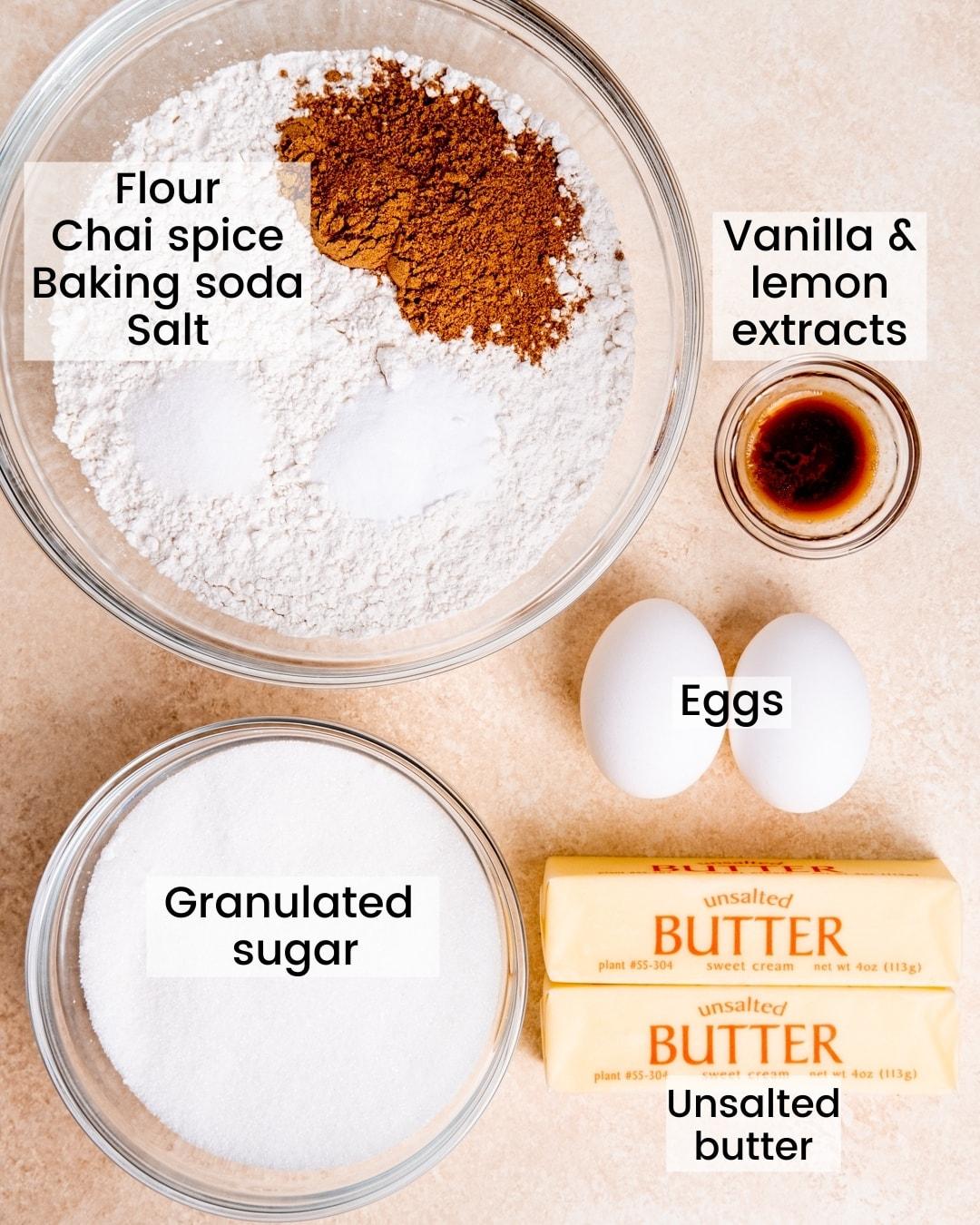 chai sugar cookie ingredients