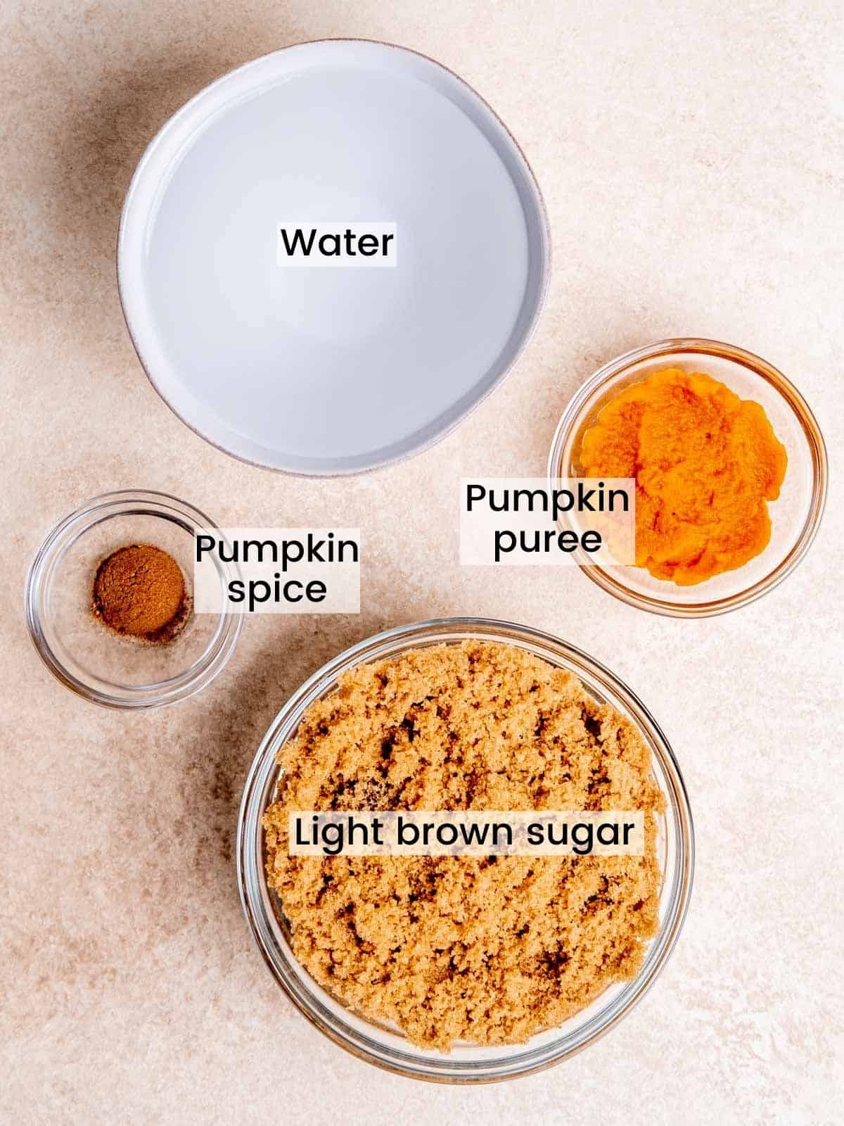 Pumpkin spice syrup ingredients labeled